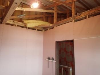 2階天井下地工事