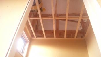 天井下地の施工①