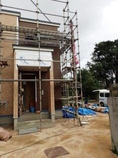外壁貼り工事2