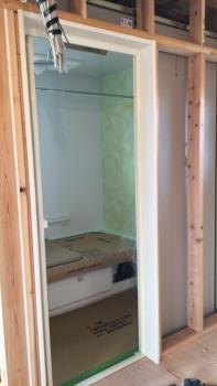 浴室周り枠施工