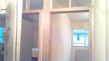 建具枠の施工