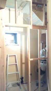 建具枠の施工②