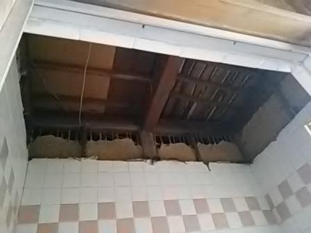 お風呂天井解体